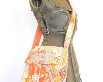 Messenger Bag • Handmade From Vintage Fabric • Vintage Recycled Fabric