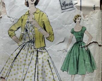 1960s Vintage Vogue Womens Dress Pattern With Jacket Vogue Special Design 4694 Sz12