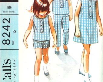 UNCUT Helen Lee Dress, Top, Pants and Shorts Size 10 Vintage Sewing Pattern