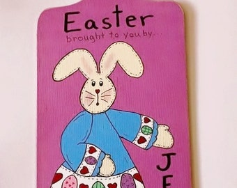 SALE - Easter Brought to you by JESUS - Original hand painted Wall hanging