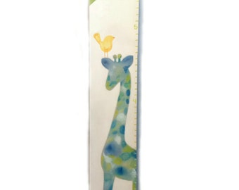 Watercolor Canvas Growth Chart