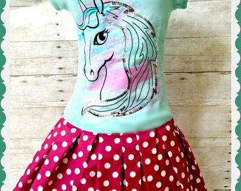 Girls pony dress equestrian dress pony dress 10/12 and 14/16
