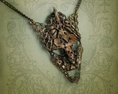 Mask of the Archon -- Handmade Filigree Necklace