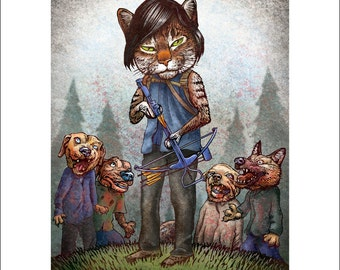 The Wagging Dead-  8 x10 signed print