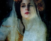The Portrait, Renaissance Style Photograph of a Woman, 8x12 inches, Merle Pace