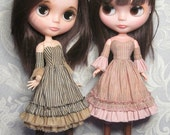 STRAIGHTFORWARD SEWING Pattern- SSP-003: Strapless dress with armlets & petticoat for Blythe and Pure Neemo.