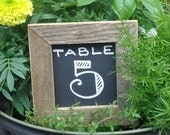 10 Small 3x3 Reclaimed Wood Framed Chalkboards for Table Numbers, Name Cards, Buffet Menu Signs, Bakery, Coffee Shop