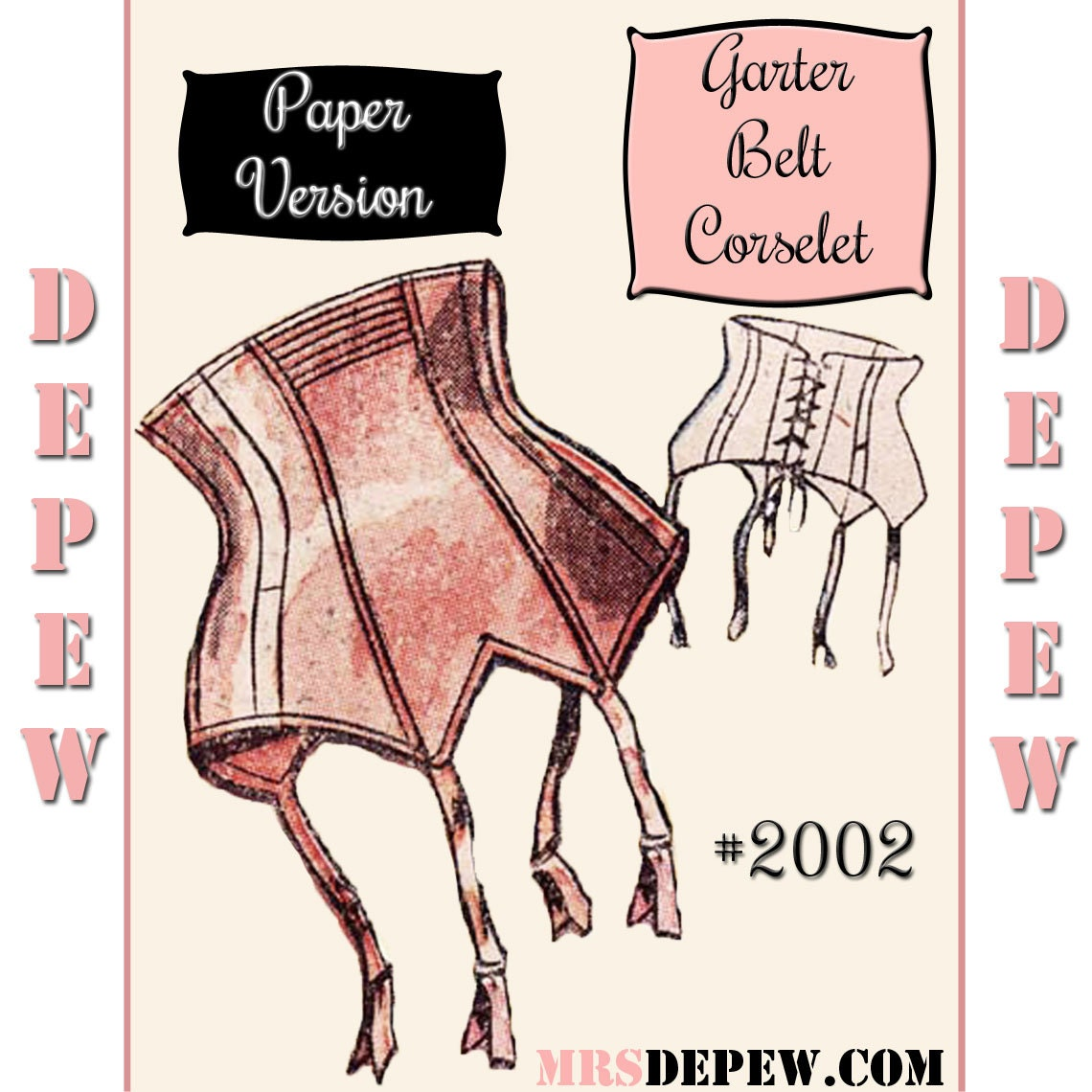 Vintage Sewing Pattern French 1950's Pin Up Corset by Mrsdepew