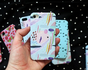 SALE: Scribble Pattern iPhone Case