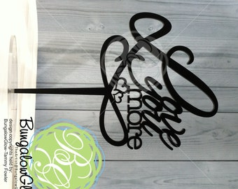 Love You More Wedding Cake Topper, Infinity Symbol Wedding Decor, Bridal Style *Original Design*