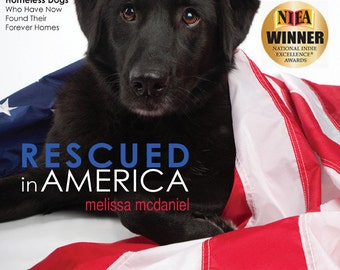 Rescued in America photo book, Signed copy (Dog coffee table hardcover book, dog photography, shelter dogs, animal rescue)