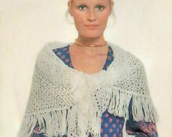 Shawl Crochet Pattern, Triangular Crochet Shawl Pattern, Crochet Wrap Pattern, INSTANT Download Pattern PDF (1604)