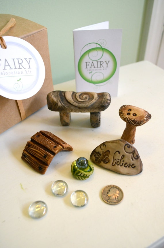 Miniature Fairy Garden Kit Fairy Furniture Gift Set By