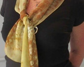 Amber Hand Painted Silk Scarf