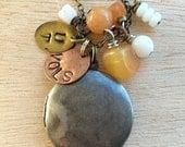 C179 UT Vols Locket Necklace