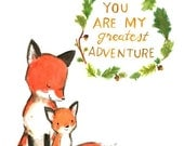 Nursery Art -- My Greatest Adventure FOX -- Art Print