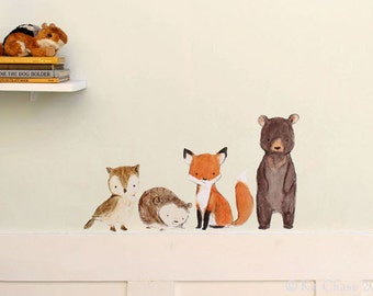 WOODLAND FRIENDS -- Wall Decal
