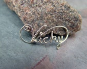 20 Gauge STERLING Silver CUSTOM Wire Name or special word Necklace