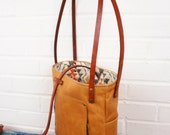 The Brooklyn Bag Lined Leather Handbag external organized pockets