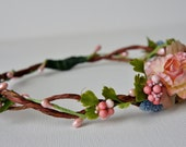 Flower Girl Headwreath, Flower Crown Headband, Wedding Crown, Wedding wreath, Wedding Crown, Flower Girl Wreath, Floral Tiara, Head Wreath