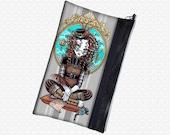 Myka Jelina Lucy Steampunk zippered pouch wristlet, travel bag,