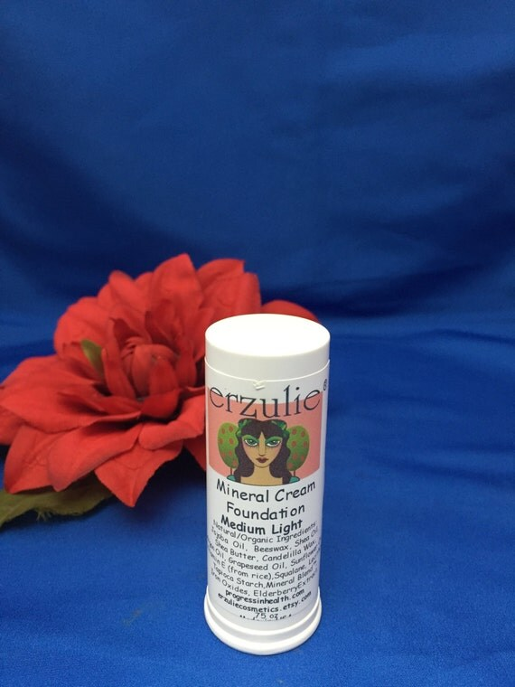 Erzulie® Natural Cosmetics Mineral Cream Foundation Stick Medium Light  Non-Comedogenic Waterproof Color Adjusting Mineral Blend
