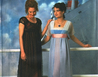 Simplicity 8399 Misses Edwardian Costume Pattern Victorian Dress Titanic Womens Designer Sewing Size 4 6 8 Bust 29 30 31 UNCUT