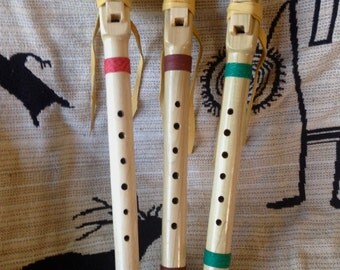 Matched Set of  3 Native Flutes in Poplar