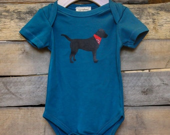 Black Lab Organic Baby Bodysuit