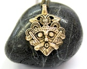 Two for One Sale...Odins Mask Necklace Odins Mask Pendant Necklace Bronze Odins Viking Mask Pendant 429
