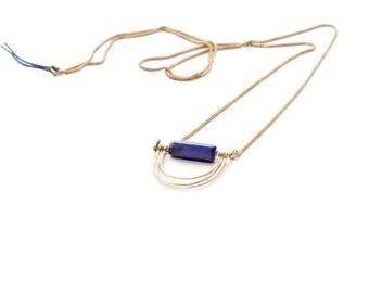 Triple Lapis Loops Necklace