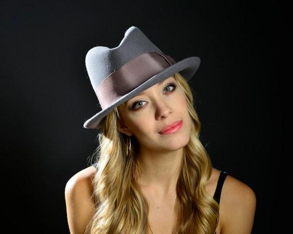 Women's Hat Men's Fedora Hat 1920s Men's Hat 1930s Men's Hat 1940s Men's Hat Spring Fashion Mad Men Hat Dress Hat Gray Fedora Great Gatsby