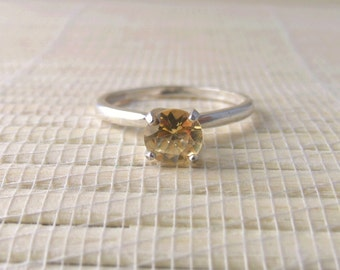 Citrine Ring Sterling Silver November Birthstone Made To Order