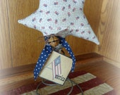 Patriotic Fabric star on old bed spring