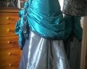 Steampunk Skirt, Parlour Bustle Skirt, Victorian Bustle, Overskirt, Customisable