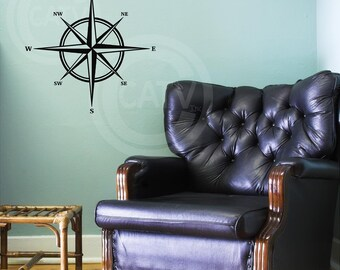 Compass vinyl wall decal sticker
