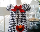 Elmo Dress, Elmo Birthday Dress, Sesame Street Dress, Elmo First Birthday Dress, Elmo Outfit, Elmo Baby, Fully Lined, Made to Order 12M-3T