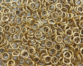 8mm Gold Base Metal Seamless Rondels - Qty 20 (G297)