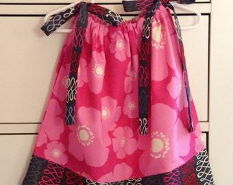 Pink Flower Pillowcase Dress - 24 Months-2T