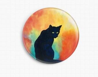 Cat Needle Minder, Licensed Art, Robert Bretz, Hocus Pocus Cross Stitch Keeper, Fridge Magnet, cat needleminder, Scissor minder