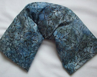 Rice Filled Therapy Pack - Teal Blue Batik