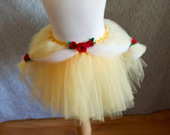 Princess Belle Tutu Beauty And The Beast Inspired Fairy Tale Skirt With