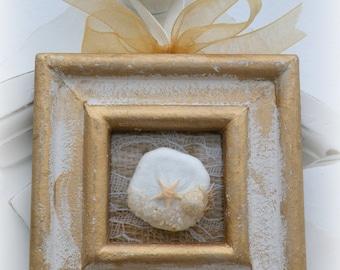 Sand Dollar & Starfish Beach Picture - Shabby Chic Beach Decor Ornament