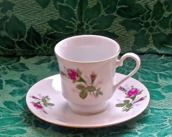 Rosebud Teacup - Rose Bud -Tea Cup -  RosebudTeacup and Saucer