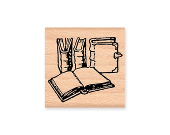 VINTAGE BOOKS-Wood Mounted Rubber Stamp (mcrs 31-06)