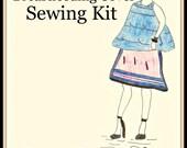 Cool Patterns-Plus Size Sewing Kit-Designer Nursing Cover-Pre Cut Fabric Pattern-Carry Bag-Cotton Luxe Style-Custom Color-Bonus
