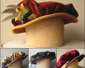 Custom Renaissance Cap - Tudor Costume Hat - For Men And Women - Made To Order