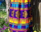 Psychedelic skirt 60s pleated maxi size M
