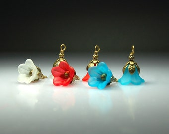 Vintage Style Bead Dangles Mixed Colors Lucite Flowers Mix MX202