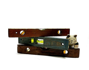 Three Torpedo Levels Stanley 260 &42 294 Vintage Wood Resin Instant Collection